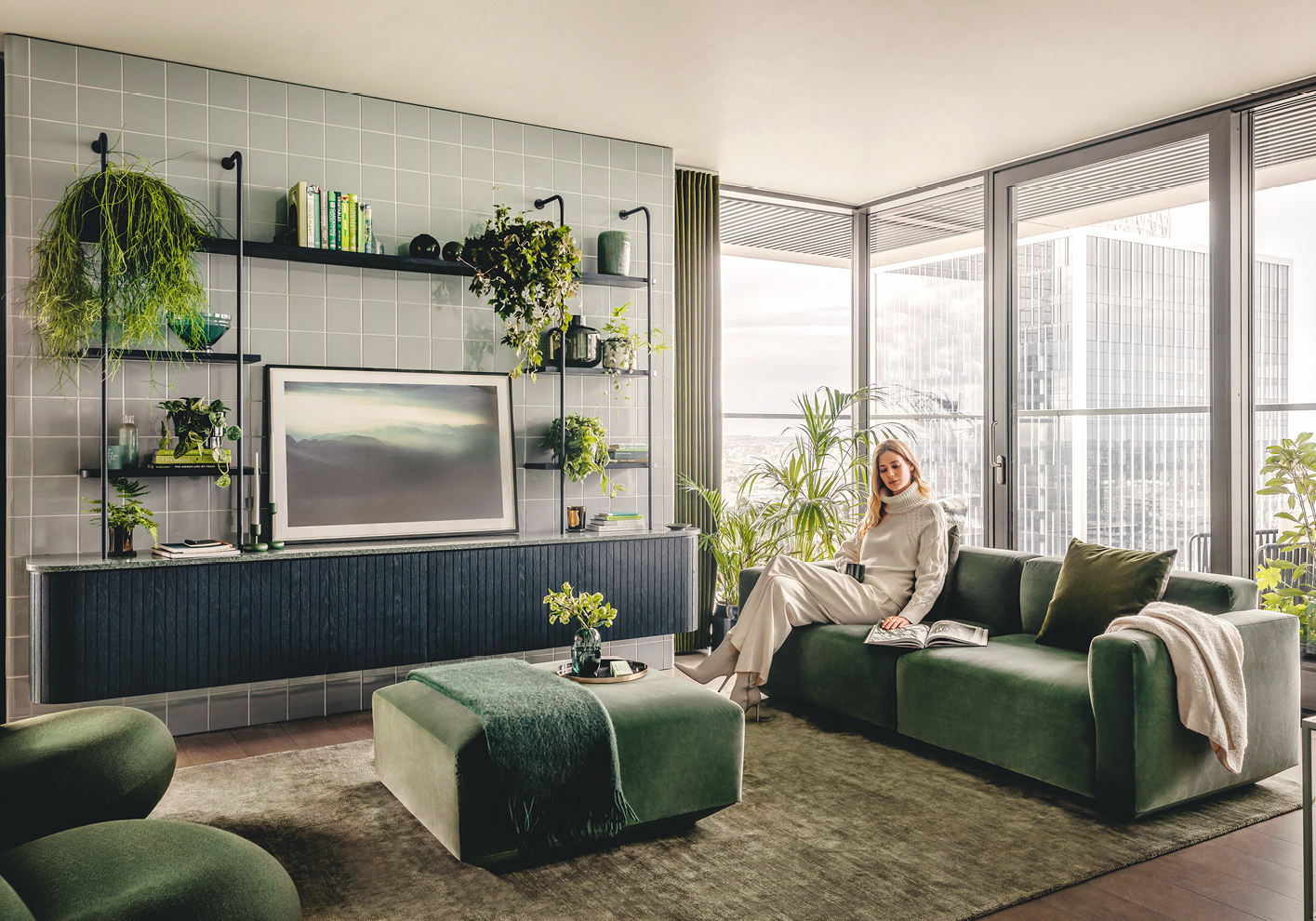 The design of Wardian is inspired by biophilia