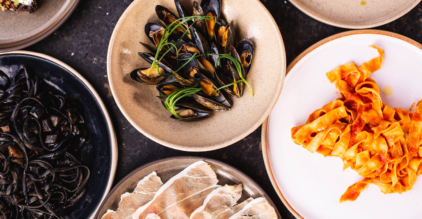 Cured meat and mussels at pioneering London restaurant, Ombra