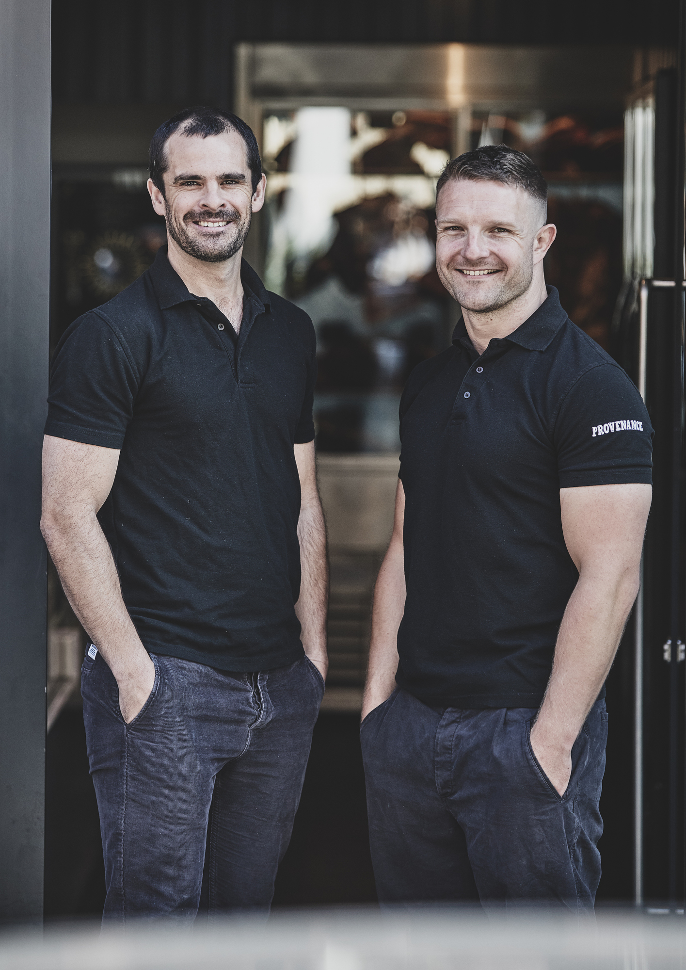 Tom Gibson, left with head butcher and co-founder Straun Robertson