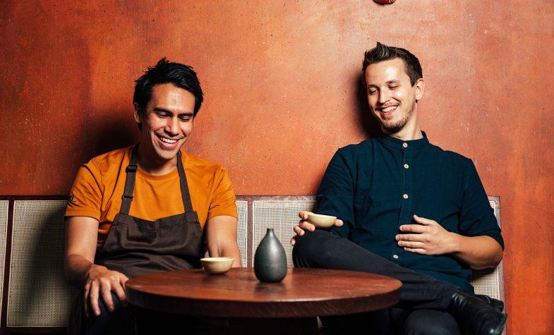 Maxim Schulte, right, with Kol chef Santiago Lastra