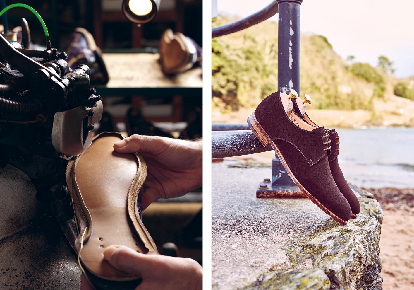 Crockett & Jones Waterford shoes in dark oak suede