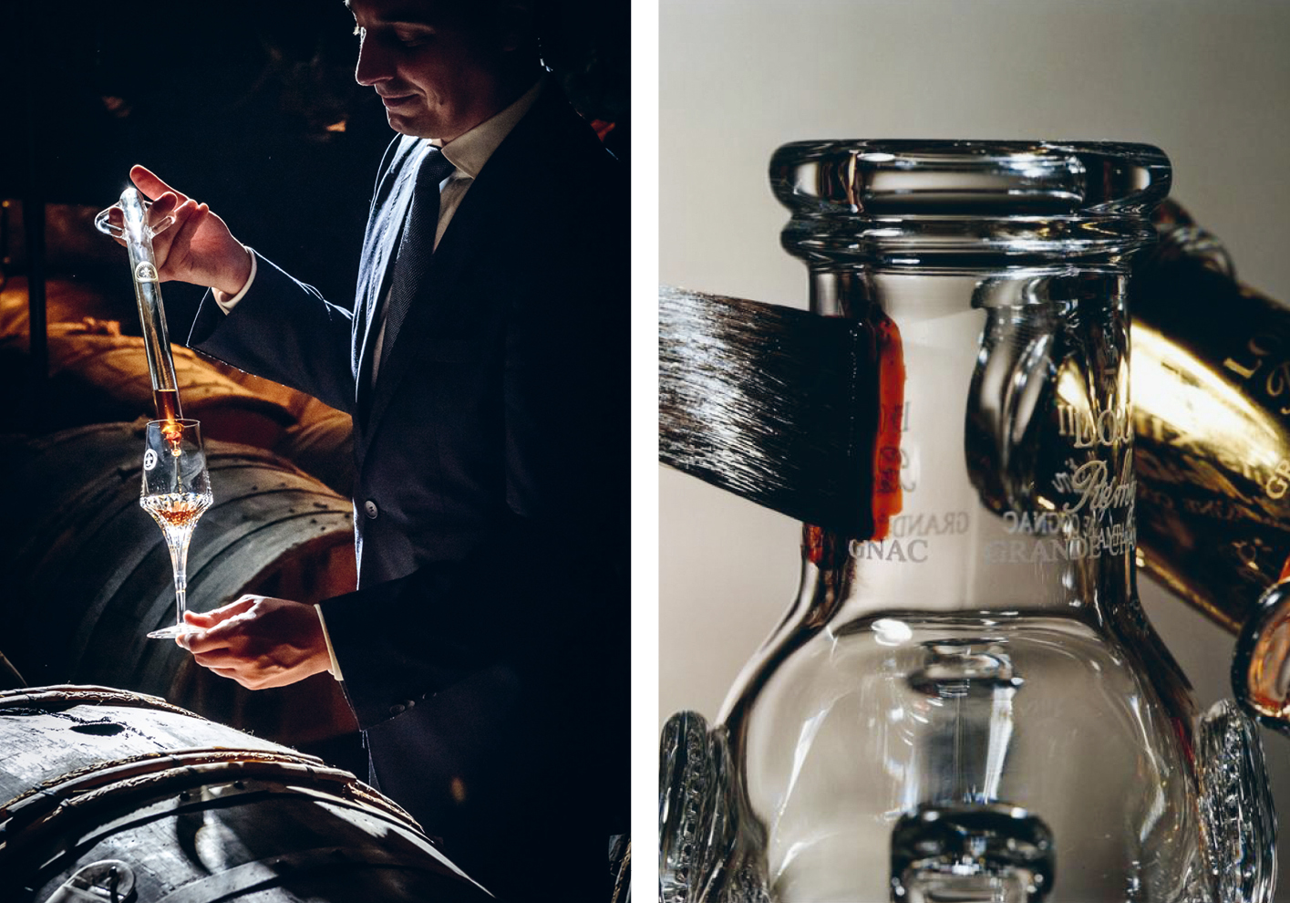Louis XIII Cellar Master Baptiste Loiseau and the glass decanter