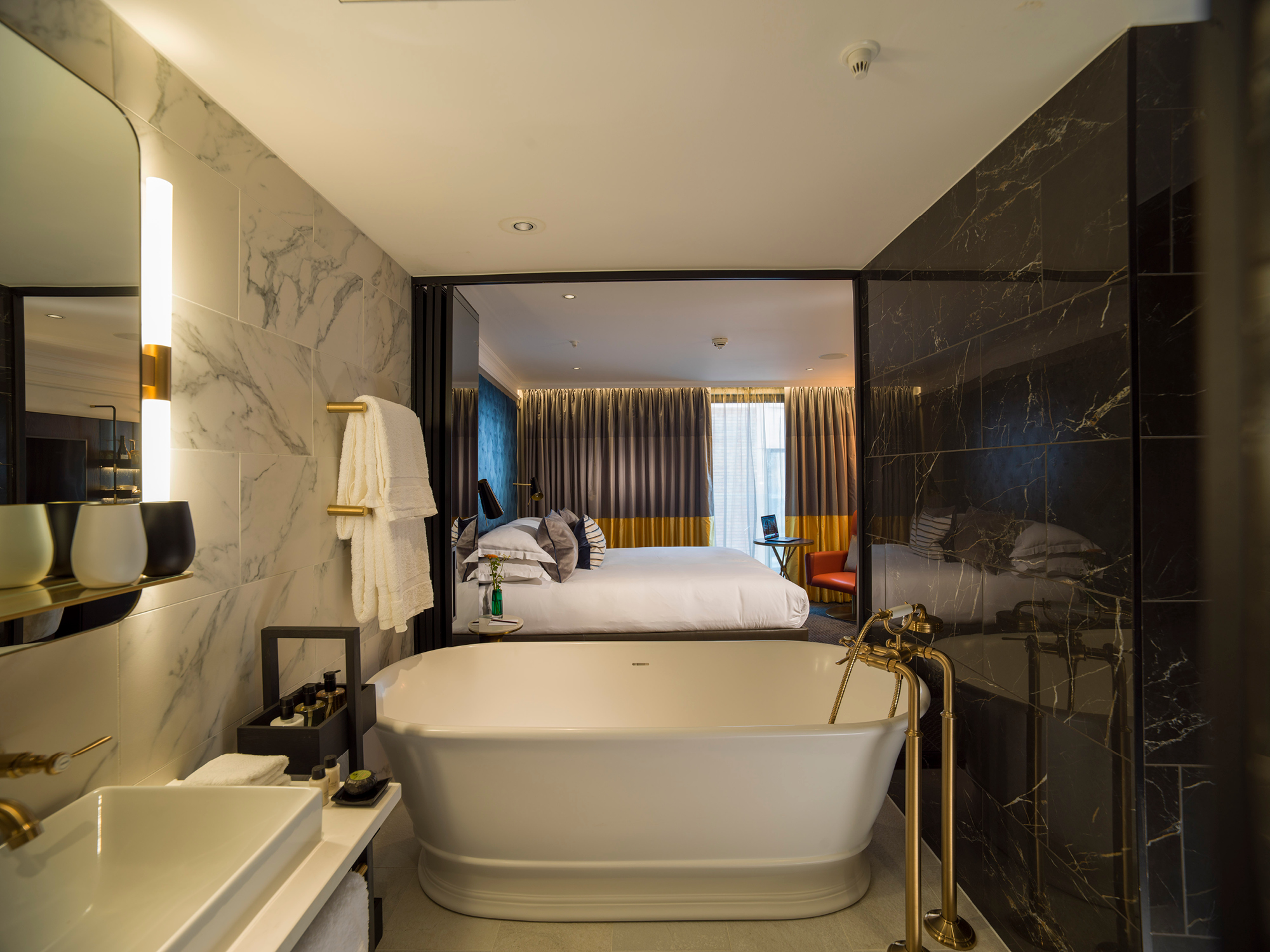 The luxurious Guardsman Room at the new Guardsman Hotel on Buckingham Gate