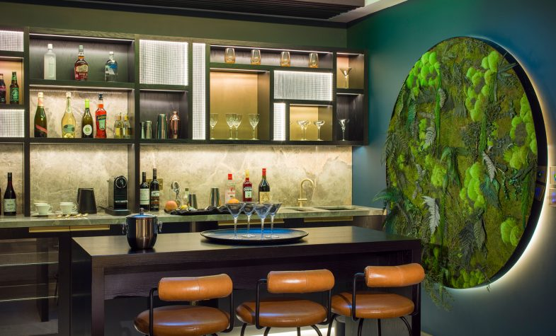 Suites at Middle Eight have living walls