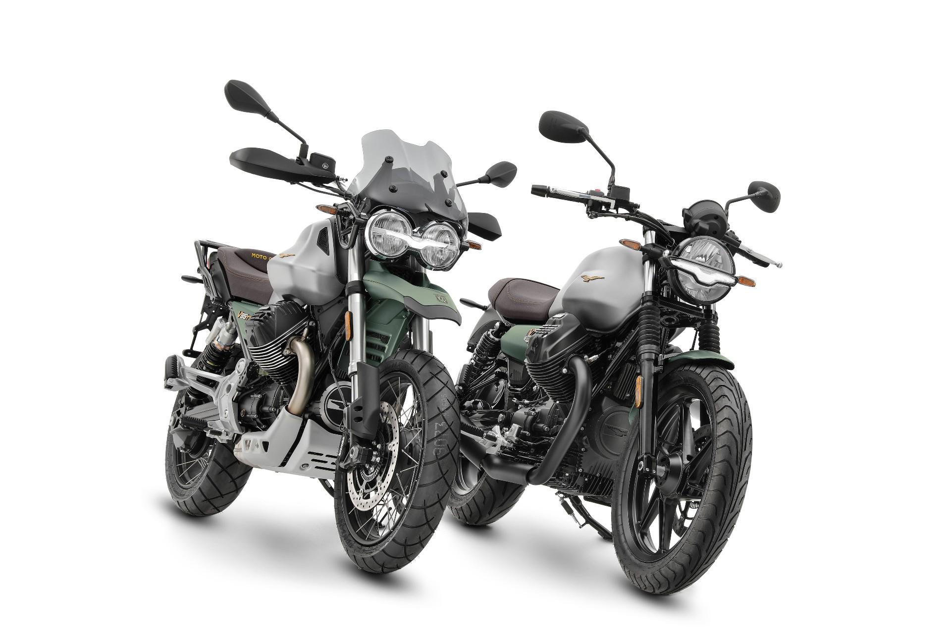 The Moto Guzzi V85 TT Centenario: £11,400 RRP and Moto Guzzi V7 Stone Centenario, £8,200 RRP