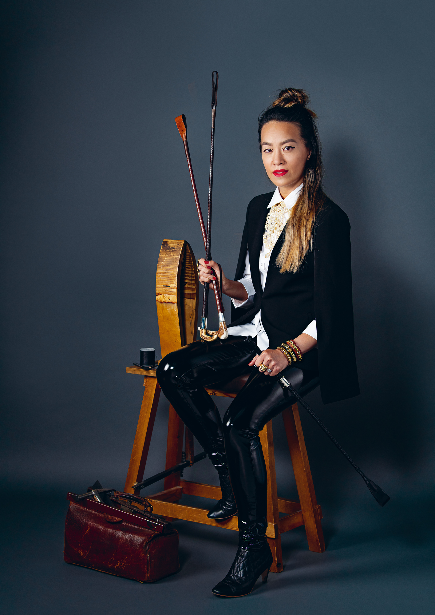 Whip maker Mary Wing To
