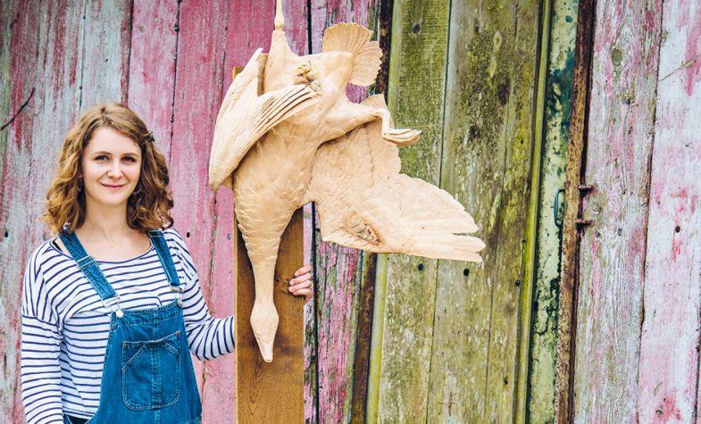 Woodcarver Amelia Crowley Roth