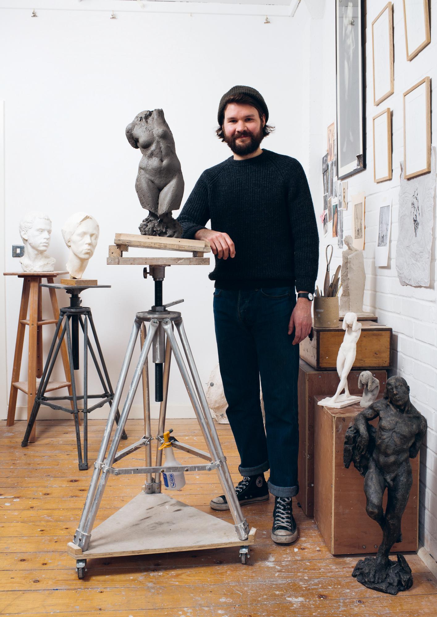 Sculptor Tom Merrett