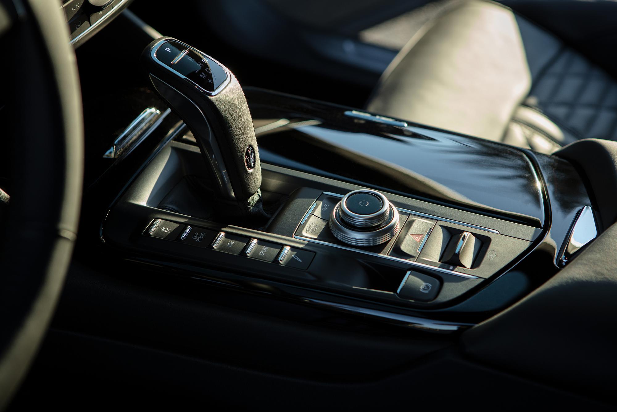 The sleek interior of the Levante Hybrid