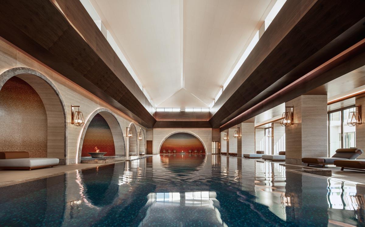 The indoor pool at Chenot Espace Portonovi