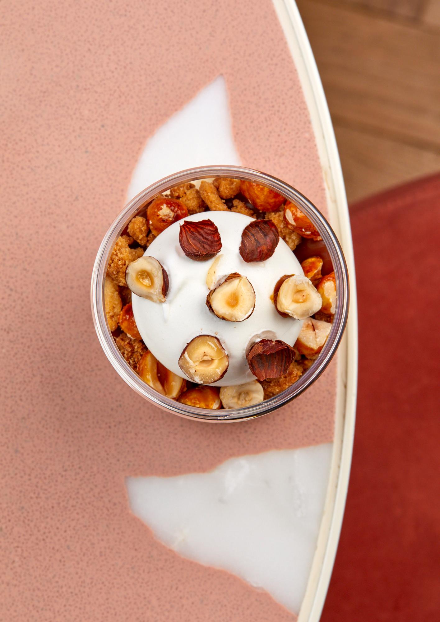 An irresistible Bafarat ice cream jar with vanilla, salted caramel and hazelnut