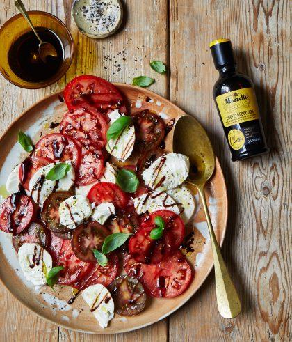 Mazzetti Aceto Balsamico on a caprese salad