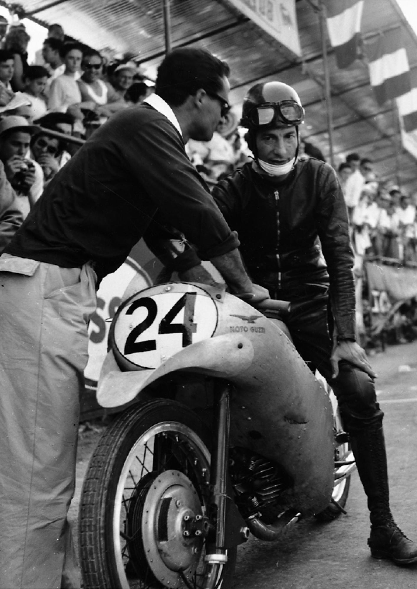 Moto Guzzi on the track