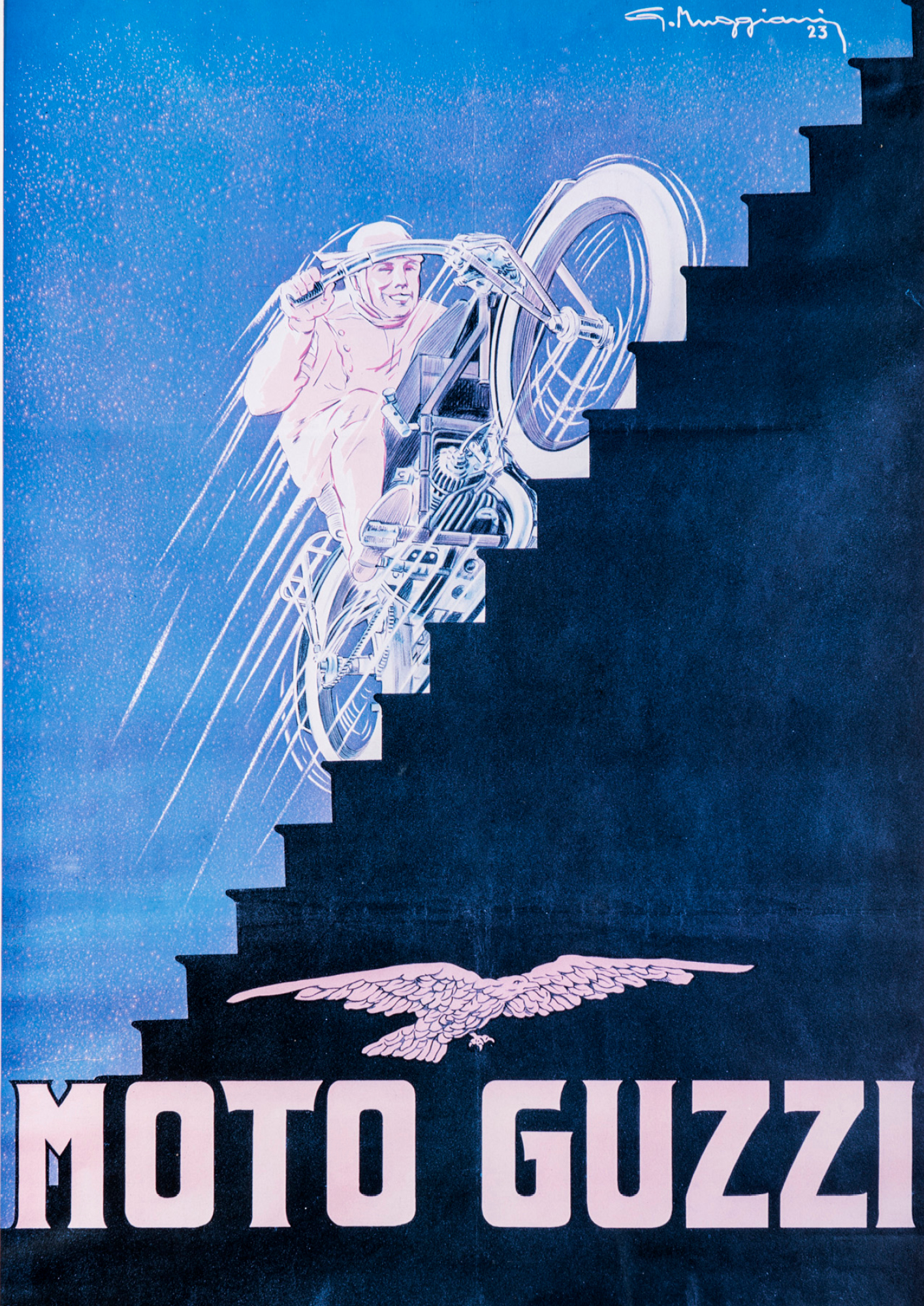 An advert for Moto Guzzi from 1923