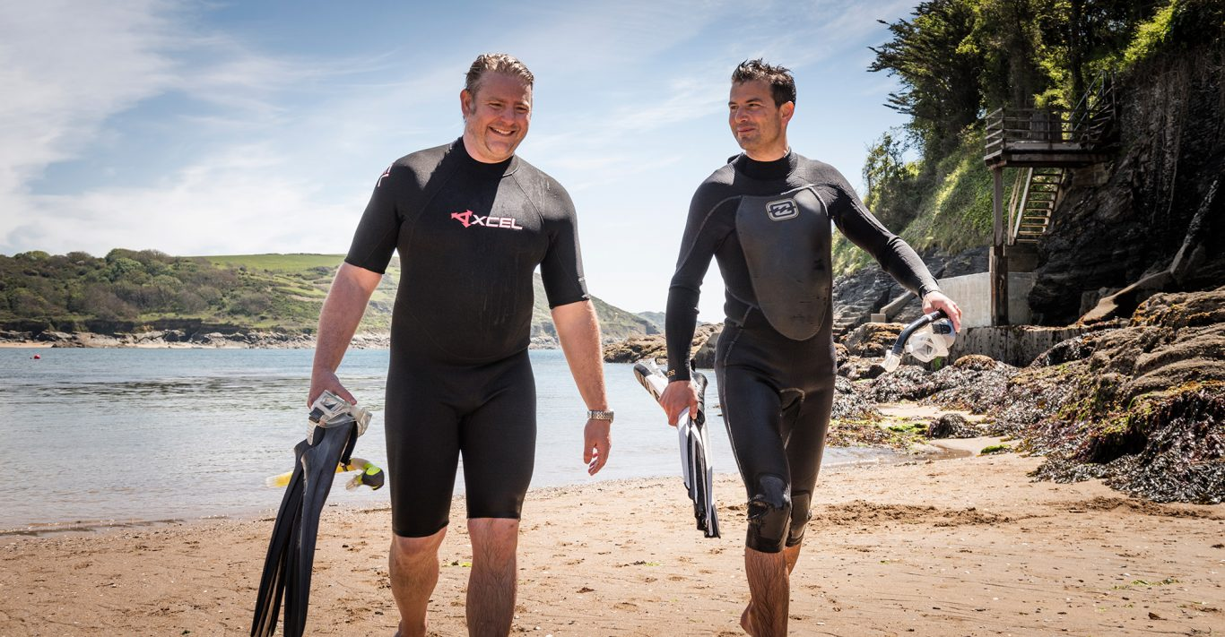 Salcombe Distilling Co. founders Angus Lugsdin and Howard Davies are committed to supporting ocean charities