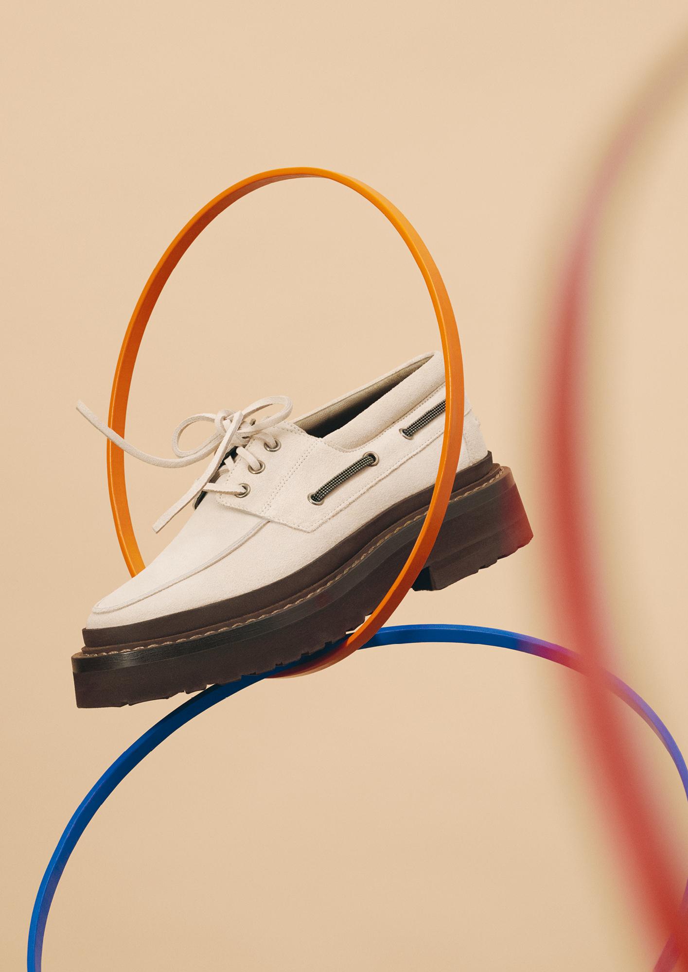 Brunello Cucinelli tread-sole loafers
