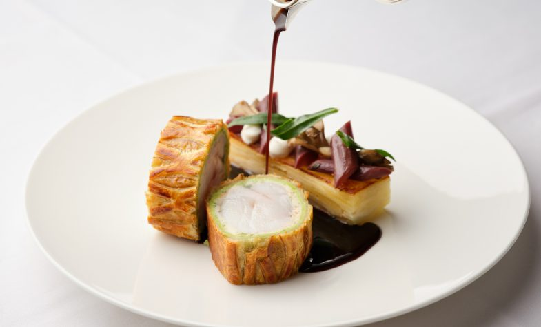 Monkfish Wellington at the Colony Grill Room