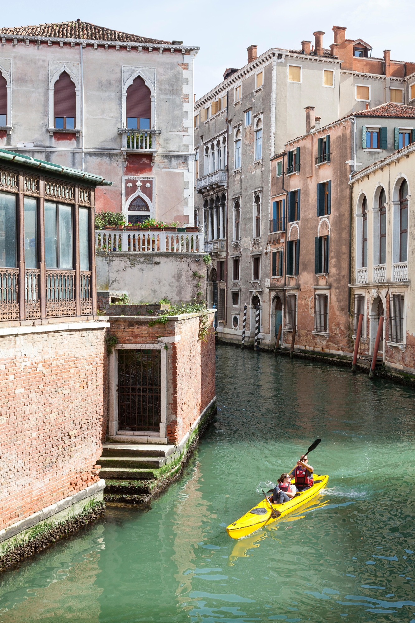 Kayaking through Venice offers a new perspective of the 'City of Water'